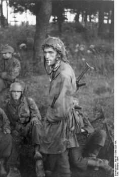 German paratroopers. France, Normandy 1944