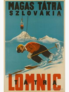 Ski Vintage, Vintage Ski Posters, Retro Poster, Vintage Art, Travel Ads, Travel And Tourism, Outdoor Logos, Tourism Poster, Travel Design