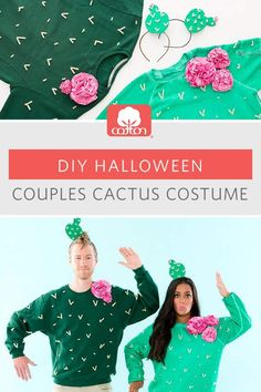 Cactus Cotton Couple Costume from Brit & Co. This costume is the ultimate way to look sharp while feeling cozy.