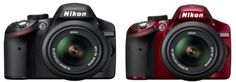 Nikon D3200 Officially Announced in either a black or red version. 24 megapixels, WiFi capable, 4 frames per second.... WOW! I WANT!!!