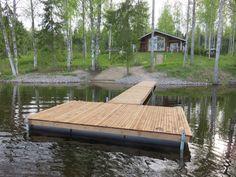 Kokemuksia rantalaiturista - Ranta Laituri Oy Lake Dock, Boat Dock, Floating Dock, Outdoor Fun, Outdoor Decor, Pond Life, Cottage Homes, Outdoor Living, Backyard