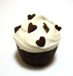 Chocolate mousse polymer clay cupcake, via Flickr.