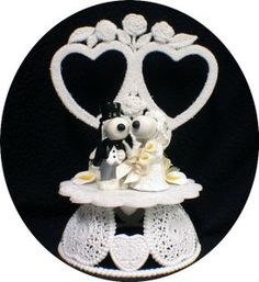 belle wedding cake toppers | Snoopy Dog Belle Peanut Gang Wedding Cake Topper 2 Hearts Charlie ...