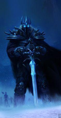 "spassundspiele: "" Arthas – World of Warcraft fan art by Alexander Tellalis "" Warcraft Heroes, Warcraft Characters, Warcraft Art, Fantasy Characters, Medieval Fantasy, Dark Fantasy, Fantasy Art, Arthas Menethil, World Of Warcraft Wallpaper"