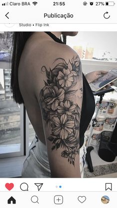 Tattoos are currently observed as an artwork and a type of individual articulation and the floral tattoo is winding up progressively mainstr. Forearm Tattoos, Body Art Tattoos, Tatoos, Hippe Tattoos, Underarm Tattoo, Type Tattoo, Neue Tattoos, Flower Tattoo Shoulder, Badass Tattoos