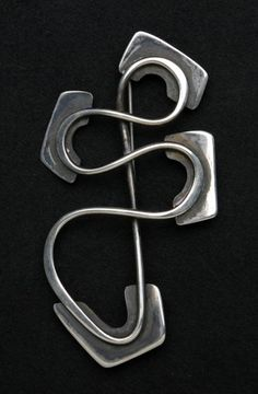 Brooch | Art Smith. Sterling silver. Signed