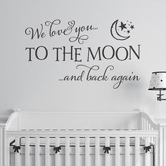we love you to the moon and back quote wall sticker