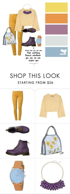 """""""Sin título #502"""" by mafer-cmxxi on Polyvore featuring moda, Levi's Made & Crafted, adidas Originals, Dr. Martens, STELLA McCARTNEY y Skagen"""