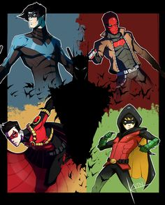 Sons of Batman by COLOR-REAPER.deviantart.com on @DeviantArt