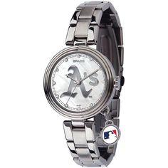 Oakland Athletics Women's Charm Stainless Steel Watch - $79.99