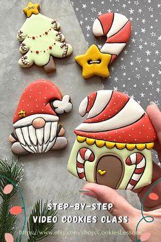 Christmas Goodies, Christmas Desserts, Christmas Treats, Christmas Baking, Christmas Fun, Christmas Sugar Cookies, Holiday Cookies, Iced Cookies, Cupcake Cookies