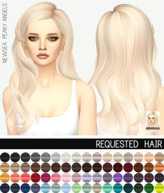 Miss Paraply: Newsea`s Peaky Angels Hair retextured • Sims 4 Downloads