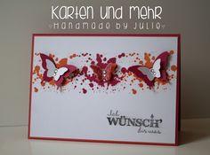 Stampin' Up! Geburtstagskarte, SU Georgeous Grunge www.handmadebyjulie.de