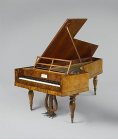 """1838 Austrian Fortepiano at the Metropolitan Museum of Art, New York - From the curators' comments: """"Conrad Graf (1782-1851), maker of this six and one-half octave piano, was one of the most important fortepiano makers in Vienna between 1822-42.... Composers such as Beethoven, Czerny, Schubert, Schumann, Kalkbrenner, Mendelssohn, Chopin, Liszt, and Brahms, as well as the Empress of Russia, the Queen of Saxony, and the Archduke and Archduchess of Austria owned Graf pianos."""""""