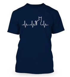 Cat Heartbeat - T-Shirts & Hoodies - Fabrily