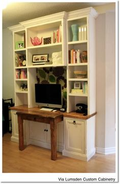 thinking this could be used as a entertainment center in family room and or built in desk for kitche Entertainment Center Makeover, Entertainment Center Kitchen, Entertainment Room, Built In Desk, Built Ins, Tv Decor, Home Decor, Eating Before Bed, Modern Interior Design