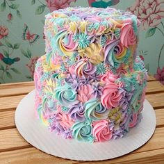This Baker's Pastel Cake Creations Will Give You Magical Uni.- This Baker's Pastel Cake Creations Will Give You Magical Unicorn Vibes This Baker's Pastel Cake Creations Will Give You Magical Unicorn Vibes - Pretty Cakes, Cute Cakes, Yummy Cakes, Pastel Cakes, Colorful Cakes, Purple Cakes, Fancy Cakes, Crazy Cakes, Savoury Cake