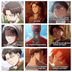 Attack on Titan ~~ THE Heichou is having none of your shit, world-at-large. None of it, I say! :: Levi