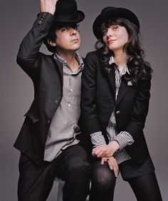 Zooey Deschanel and M. Ward, a.k.a. She & Him. Awesome band!
