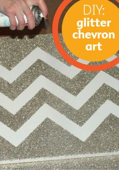 Get a little messy with this sparkly DIY chevron art tutorial!