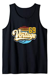 Vintage 69 50th Birthday Gift Retro 50 years old 1969 Tank Top Unique Birthday Gifts, 50th Birthday Gifts, Vintage Gifts, Jewelry Stores, Tank Man, Mens Tops, Gift Ideas, Shopping, Clothes