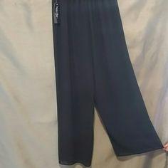 NWT Sheer boho pants w shorts under Very boho chick Jayne clay Pants Wide Leg
