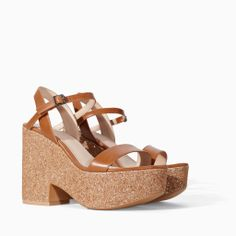 Need these in my life ASAP! GLITTER WEDGE from Zara