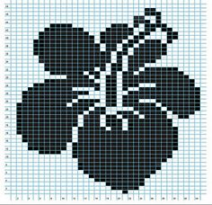Definitely not the first hibiscus chart, but another variation for all the beach lovers!