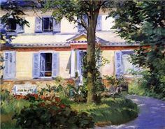The House at Rueil - Edouard Manet