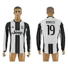 Juventus 16-17 #Bonucci 19 Hjemmebanetrøje Lange ærmer,245,14KR,shirtshopservice@gmail.com