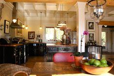 Kitchen - black cabinets.