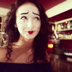 Mime Halloween Costume, Halloween Face Makeup, Mime Makeup, Female Clown, Cute Clown, Circus Art, Costume Ideas, Clowns, Makeup
