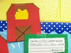 Social Studies - City & Country Reading story: Jan's New Home writing activity Kindergarten Social Studies, Kindergarten Fun, Teaching Social Studies, Daily 5 Reading, Teaching Reading, Teaching Ideas, Writing Activities, Educational Activities, City Vs Country
