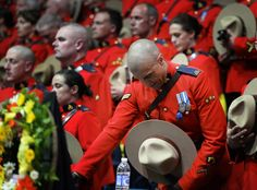 Gallery: Funeral service for the three slain RCMP officers in Moncton, NB. Leo Police, Police Officer, Moncton Nb, Canadian Law, National Police, Northwest Territories, Prince Edward Island, British Columbia, Funeral