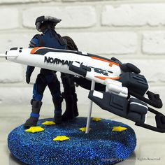 Miniature spaceship wedding cake topper decoration  by Anna Crafts, via Flickr