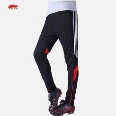 New Autumn and Winter Men's Sport Quick-drying Running Half zipper Closing Leg Trousers Football Training pants for soccer balls