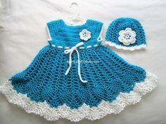 crochet baby dresses 22