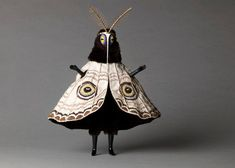 "Untitled (Moth man) from the ""Creatures"" series by English artist Cat Johnston. Photo by Christina Solomons. via Christina Solomons Photography Charles Freger, Character Inspiration, Character Design, Arte Obscura, Art Plastique, Costume Design, Puppets, Wearable Art, Art Inspo"