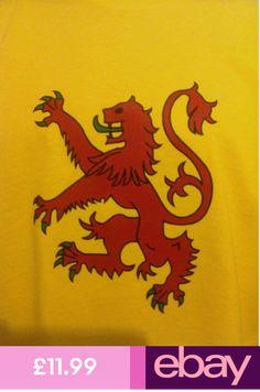 SUPERMAN SCOTLAND LION RAMPANT logo T Shirt Scottish Rugby Football sports fans