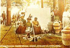"""Pottawattamie Indian Village, Athens, near Battle Creek, Michigan"". No date. Photographer: None identified."