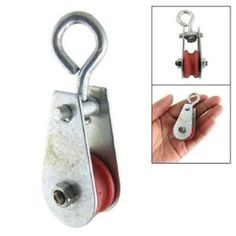 """Amico 0.03T Single Swivel Lifting 0.2"""" Rope Pulley Sheave by Amico. $3.26. Description: A pulley, also called a sheave, is a mechanism composed of a wheel on an axle or shaft that may have a groove between two flanges around its circumference. A rope, cable, belt, or chain usually runs over the wheel and inside the groove, if present. Pulleys are used to change the direction of an applied force, transmit rotational motion, or realize a mechanical advantage in either a linear or ..."""