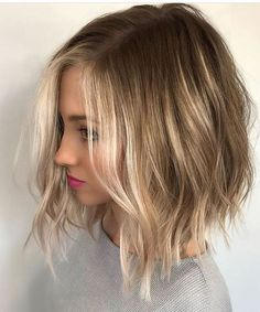Attractive Blonde Balayage Short Bob Hairstyles for Women