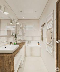 Bathroom Designs Small Bathroom Łazienka Styl nowoczesny Zdjęcie Od Narrow Bathroom, Bathroom Design Small, Laundry In Bathroom, Simple Bathroom, Bathroom Designs, Bath Design, Master Bathrooms, Bathroom Cabinets, Bathroom Ideas