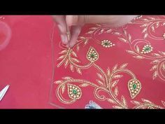 Wedding Blouse Design - Detailed Stone, Beads, and Zardosi Work Hand Embroidery Videos, Tambour Embroidery, Hand Designs, Simple Designs, Zardosi Work, Gown Pattern, Bridal Blouse Designs, Stone Beads, Embroidery Designs