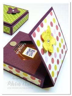 Raffaello Klappbox  FlipTop-Box / Zigarettenschachtel    Ritter Sport Mini-Box    Little Christmas Box    Süßigkeiten-Box    Teelichtkarte  ...