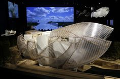 Model of the Fondation Louis Vuitton designed by architect Frank Gehry