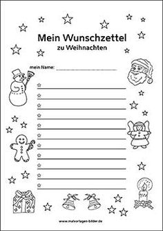 Wunschliste Vorlage Weihnachten