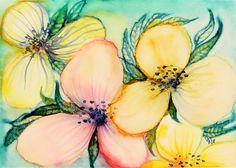 Watercolor Paper, Paper Flowers, Saatchi Art, Original Paintings, Ink, Floral, Artist, Artworks, Arches Watercolor Paper