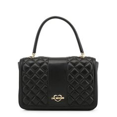 Love Moschino Handbag (US Only) - Fashion Women Men Casual Classy Trends Summer Autumn Winter Spring Fall Outfit Monochromatic Cristiano Ronaldo Underwear, Classy Trends, Moschino Bag, Quilted Handbags, Quilted Purse, Purses For Sale, Black Leather Handbags, Luxury Bags, Bracelets For Men