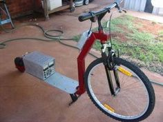 Home-built electric scooter